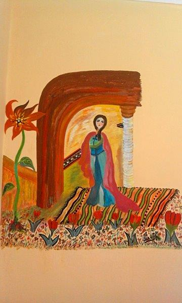 Wandgemälde Bahija Abdouelali, Foto: © Barbara Schumacher