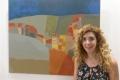 Louma Rabah mit Gemälde Foto: © Barbara Schumacher