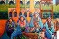 Gemälde Qatif Markt, Foto: © Barbara Schumacher