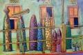 Gemälde Qatif Frauen mit Kunsthandwerk, Foto: © Barbara Schumacher