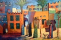 Gemälde Qatif Dorfszene, Foto: © Barbara Schumacher