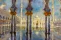 Michael Arnold Gemälde Sheikh Zayed Moschee Foto: © Barbara Schumacher