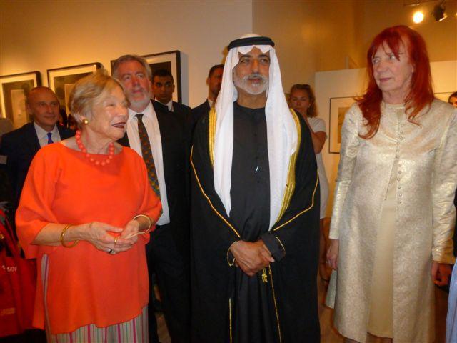vlnr Wendy Watriss, Sheikh Nahyan, Karin Adrian von Roques Foto: © Barbara Schumacher